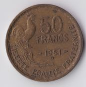 France, 50 Francs 1951 B, VF, WE1370